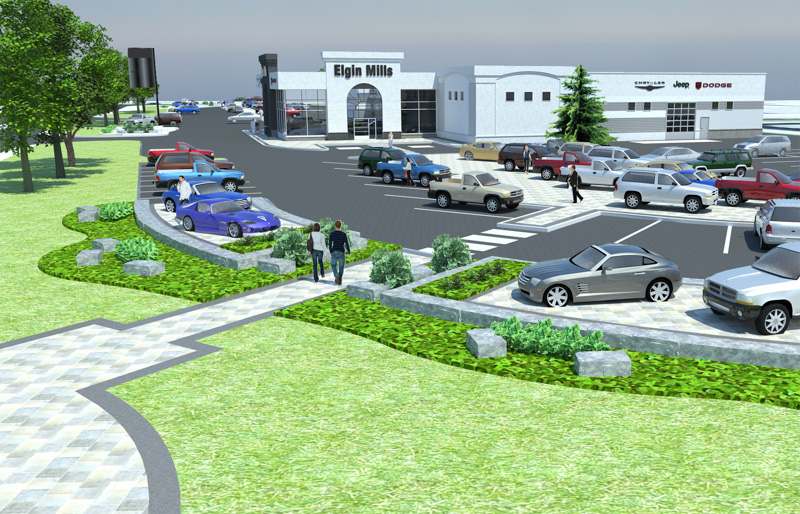 Elgin-Mills-1-Crysler-Dealership-Render